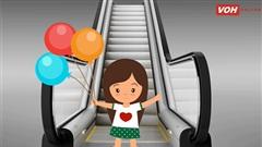 Những lưu ý giữ an toàn cho trẻ khi đi thang cuốn