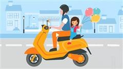 Chở trẻ bằng xe máy an toàn để tránh tai nạn thương tích