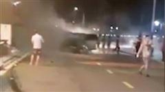 Xe Lexus gây tai nạn liên hoàn ở Hải Phòng, nữ công an phường tử vong