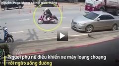 Khoảnh khắc mở cửa xe bất cẩn khiến người phụ nữ bị xe đầu kéo cán tử vong