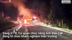 Xe khách giường nằm chở 40 hành khách cháy rụi trong đêm