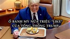 Bức ảnh ông Trump ăn bánh mì gây bão, hút hơn nửa triệu like chỉ sau 8 giờ