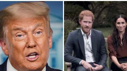 Tổng thống Donald Trump mỉa mai vợ chồng Meghan Markle sau khi bị cặp đôi động chạm công khai: 'Tôi chẳng ái mộ gì cô này'