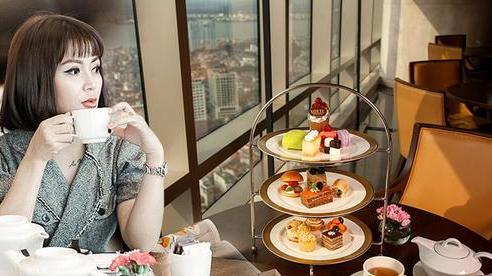 Thú vui tao nhã đầu đông dành cho chị em: Uống trà chiều sang chảnh trên tầng 38, ngắm Hà Nội đổi màu lấp lánh từ trên cao
