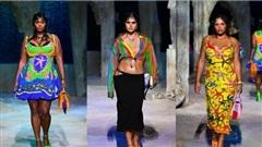 Loạt người mẫu 'quá khổ' sải bước đầy tự tin tại show Versace Xuân/Hè 2021