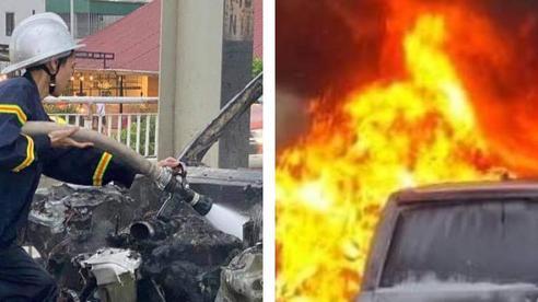 Hà Nội: Xác định danh tính tài xế thoát chết thần kỳ trong vụ cháy xe sang Range Rover trên cầu Chương Dương