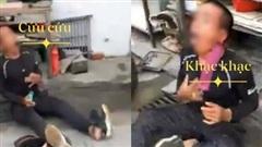 Clip: Bị bắt quả tang giật điện thoại của cụ ông, tên cướp 'phô diễn' kỹ năng giả bệnh lăn đùng ngã ngửa giữa đường