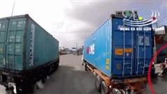 Clip: Khoảnh khắc xe container đâm hàng loạt xe máy đang dừng chờ đèn đỏ ở Hải Phòng