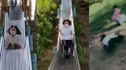 Cái kết đầy đau đớn cho cô nàng chơi cầu trượt khi đi du lịch, cảnh báo hội chị em cẩn thận với trò tưởng chừng vô hại này