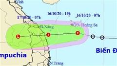 Áp thấp nhiệt đới tăng tốc, đổ bộ vào Đà Nẵng - Bình Định tối nay, gây mưa rất to