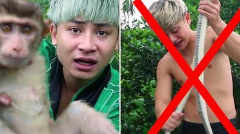 SỐC: Xuất hiện kênh YouTube phản cảm hơn cả con trai bà Tân, làm clip ăn rắn và bắt động vật quý hiếm