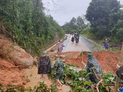 Sạt lở đất tại Quảng Trị: Lực lượng cứu hộ tại chỗ đã tiếp cận được hiện trường