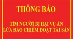 Tìm bị hại của đối tượng Phạm Văn Hảo