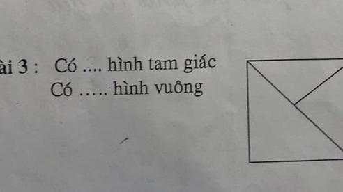 Con gái đếm 4 tam giác nhưng bị gạch sai, người mẹ thắc mắc giáo viên liền nhận về lời giải 'tâm phục khẩu phục'