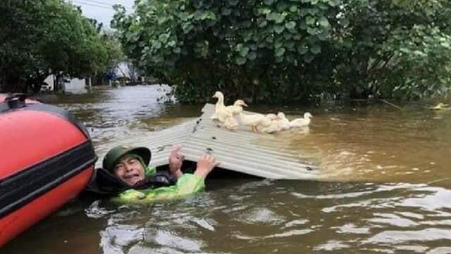 Cộng đồng mạng chia sẻ hàng loạt video ngay tại vùng bão lũ miền Trung khiến ai cũng xót xa: Bàn tay vẫy kêu cứu từ nóc nhà ngập nước, ngôi nhà 2 tầng đổ sụp xuống sông trong 2 giây