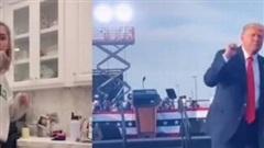 Người dùng Tik Tok đua nhau bắt chước điệu nhảy tranh cử của Tổng thống Trump