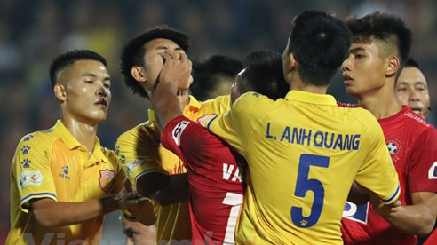 VFF ra án phạt với một loạt cầu thủ hung hăng tại vòng 4 GĐ 2 V-league