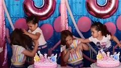 Giật tóc đánh nhau vì tranh thổi nến trong ngày sinh nhật, hai chị em có cái kết đầy bất ngờ sau đó