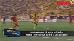DNH Nam Định với 4 lần mất điểm đáng tiếc ở V.League 2020