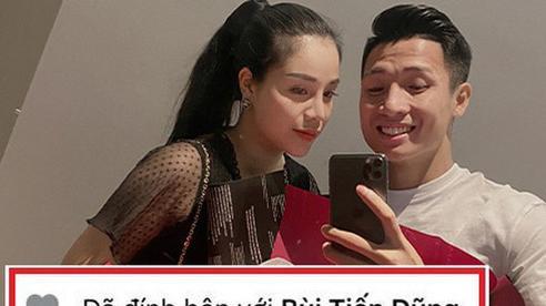Scandal 'single mom' lắng xuống, Khánh Linh để lại trạng thái 'đã đính hôn' với Bùi Tiến Dũng, lời nhắn nhủ của mẹ ruột gây chú ý