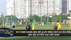HLV Park Hang Seo đề xuất triệu tập 33 cầu thủ lên U22 Việt Nam