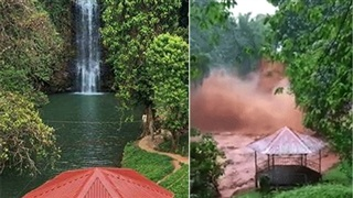 Kinh sợ cảnh thác nước ở Kon Tum trở nên dữ dội, đục ngầu