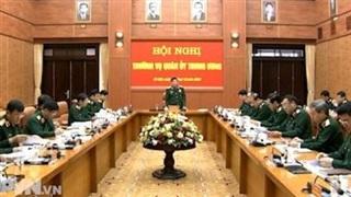 Thường vụ Quân uỷ Trung ương triển khai nhiệm vụ tháng 11