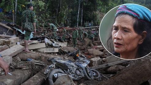 Nước mắt cụ bà mất 8 người thân trong vụ sạt lở ở Quảng Nam: 'Con nhắn tôi cẩn thận sạt lở, nhưng giờ con chẳng còn nữa'