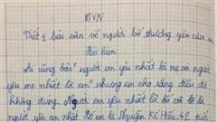 Bài văn nói xấu bố của học sinh lớp 5 đạt điểm 10: Bố em bụng bự, trán dô, mắt láo liên, bị vợ mắng suốt ngày