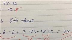 Cô giáo chấm nhầm bài Toán cộng trừ đơn giản, dân mạng chỉ ra lỗi sai 'chết người' mà rất nhiều người mắc