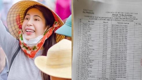 Thuỷ Tiên bất ngờ công khai luôn danh sách các trường hợp nhận hỗ trợ miền Trung cùng lời xin lỗi và cảm ơn