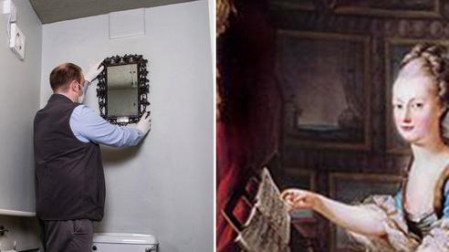Gương cũ để suốt 40 năm trời trong WC không ai quan tâm hoá ra là báu vật của Hoàng gia Pháp trị giá đến 300 triệu đồng