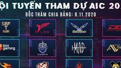 Lộ diện 12 đội tham dự AIC 2020, bất ngờ với sự xuất hiện của ẩn số tới từ Trung Quốc và Hàn Quốc