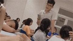Học sinh ngủ gật, thầy có cách phạt 'siêu ngầu siêu vui'