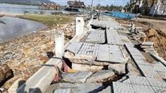 Huế: Đường 172 tỷ dài hơn 3km 'tan nát' sau bão, do lúc thiết kế không tính việc chặn sóng, nước