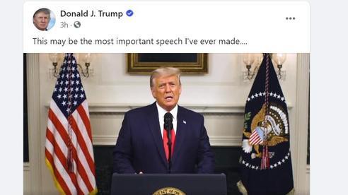 Tổng thống Trump bất ngờ có bài phát biểu 'quan trọng' dài 46 phút
