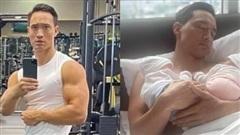 Kim Lý khoe ảnh tập gym để có được cánh tay 'đủ ẵm 2 bé sinh đôi', nhưng có cần phải cuồn cuộn cơ bắp thế này không?