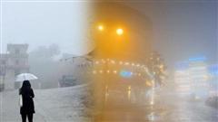 Ảnh, clip: Nhiệt độ giảm mạnh chỉ còn 8 độ C, thị trấn Sa Pa chìm trong sương mù, rét buốt