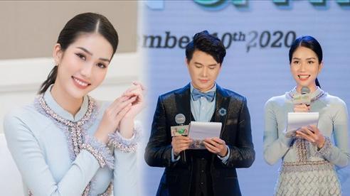 Á hậu Phương Anh diện áo dài đẹp duyên dáng, lần đầu thử sức làm MC song ngữ