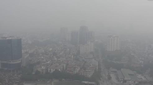 Clip: Hà Nội ô nhiễm không khí nghiêm trọng, bầu trời mờ đục vì khói bụi