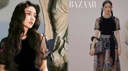 Pha đụng hàng 'gắt' của 2 nàng thơ Dior: Jisoo đúng xinh, Angela Baby có vòng eo con kiến gây 'áp đảo'