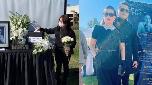 Cùng có mặt tại tang lễ cố nghệ sĩ Chí Tài với vợ cũ, Hoàng Anh vô tư ôm eo 'người tình tin đồn'
