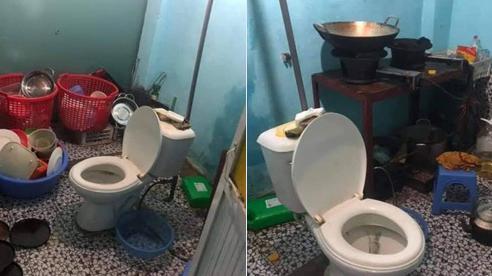 Cô gái khóc thét sau khi về nhà bạn trai chơi, dân tình cũng giật mình khi trông thấy chiếc toilet nằm chình ình giữa bếp