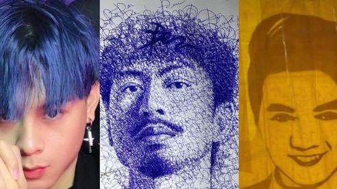 Chàng trai 9X có khả năng lạ, vẽ Binz bằng chữ 'Châu', Mr Đàm bằng băng keo hot nhất Tiktok