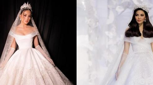 Hoa hậu Tiểu Vy & Lan Khuê khoe điểm vàng hút mắt với váy cưới công chúa cổ tích