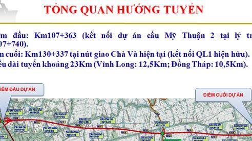 Khởi công tuyến cao tốc Mỹ Thuận – Cần Thơ ngày 4/1