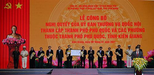 Công bố Nghị quyết thành lập thành phố Phú Quốc