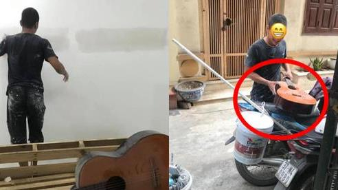 Thích cây đàn guitar cũ, anh thợ sửa nhà có cách 'xin' cực chuẩn, khiến ai cũng thấy vui theo