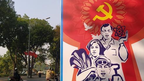 Chào mừng Đại hội lần thứ XIII của Đảng, Hà Nội trang hoàng rực rỡ cờ hoa