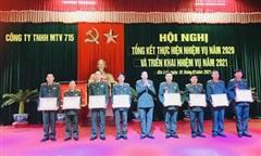 Công ty 715 (Binh đoàn 15) tổng kết nhiệm vụ năm 2020